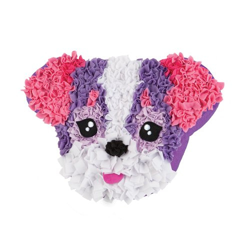 Orb Factory Plushcraft Puppy Love Pink Pillow