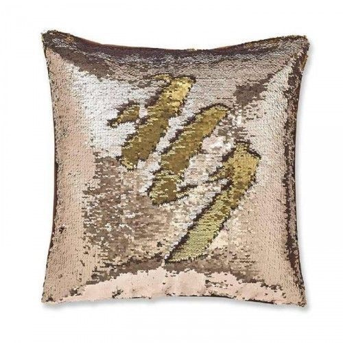 Catherine Mansfield Sequin Mermaid Bronze Cushion Cover