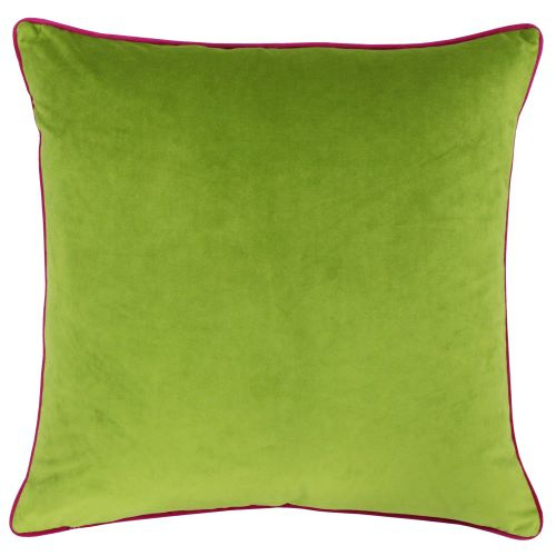 Riva Paoletti Meridian Lime and Hot Pink Cushion Cover