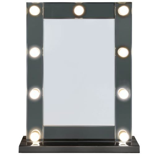 Hollywood 9 Light Dimmable Grey Vanity Mirror