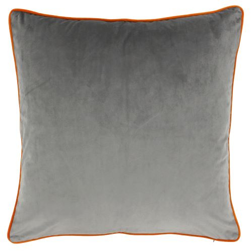 Riva Paoletti Meridian Grey and Clementine Cushion Cover