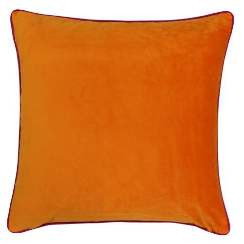 Riva Paoletti Meridian Clementine and Hot Pink Cushion Cover