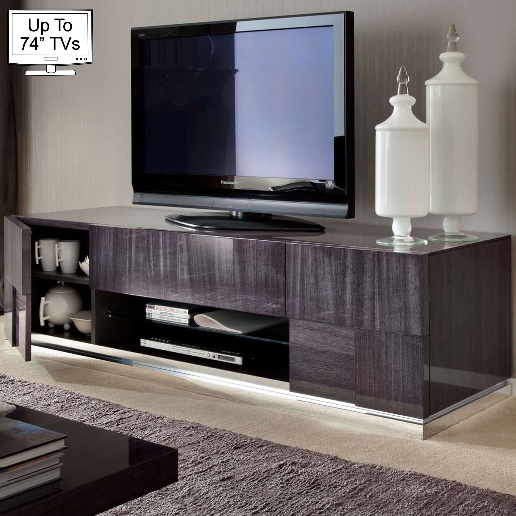 Monza High Gloss Tv Stand For Up To 74 Tvs