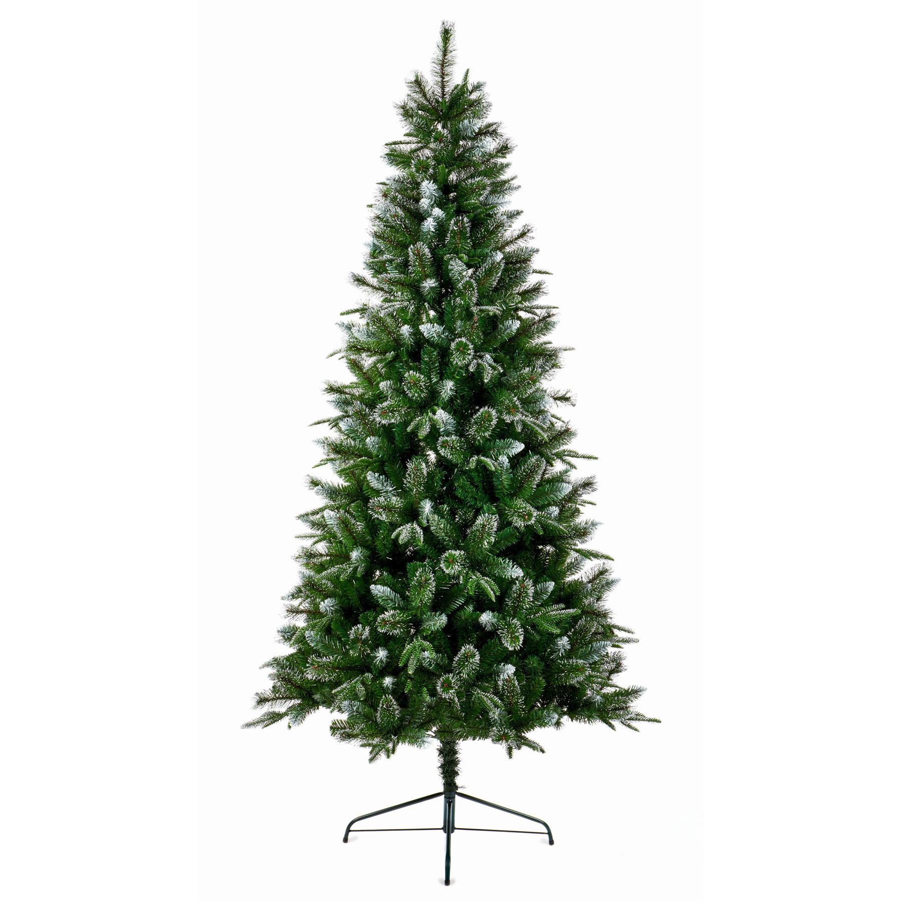 7ft Fairmont Fir Christmas Tree with Silver Glitter Tips