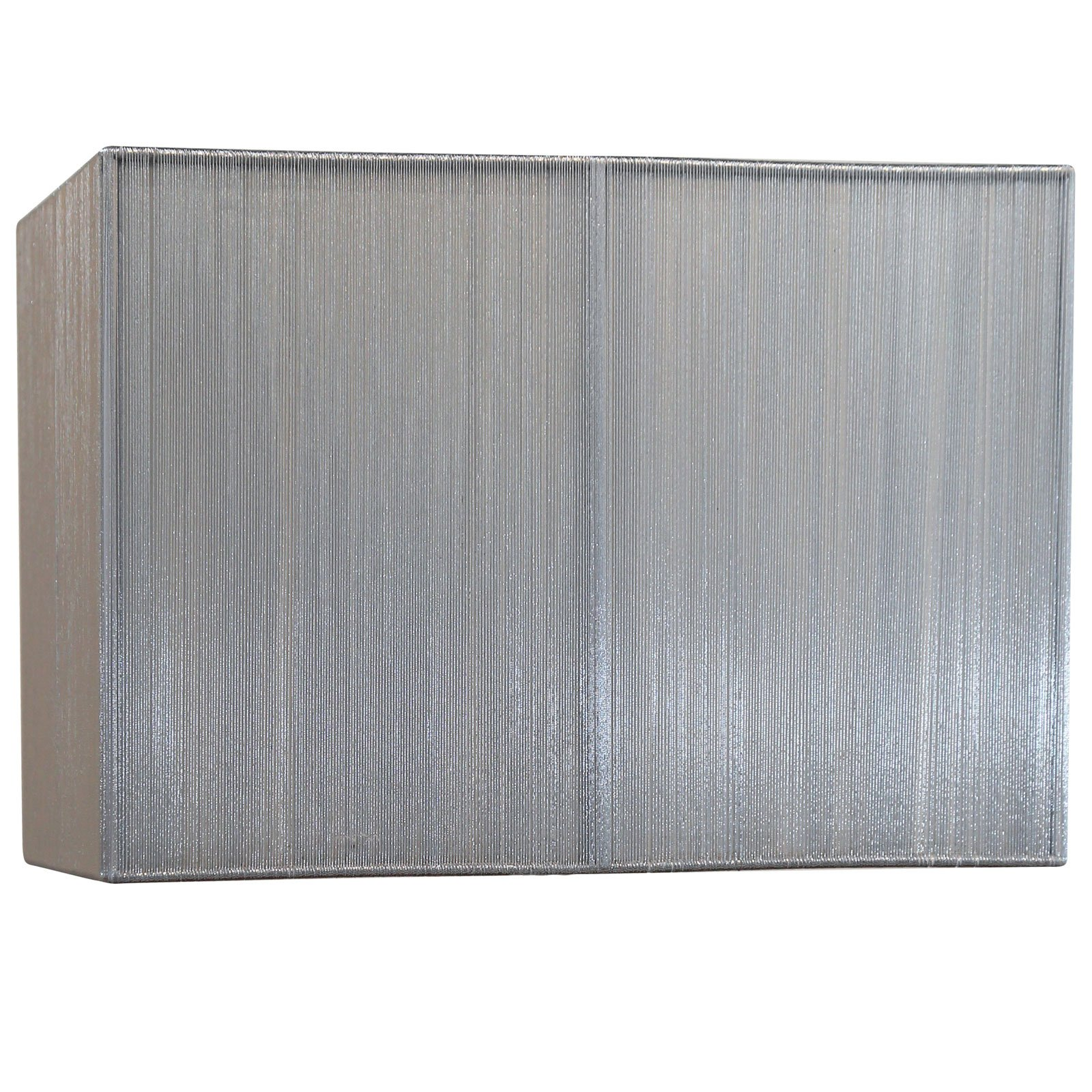 Picture of: Silk String 14 Inch Silver Rectangular Lamp Shade