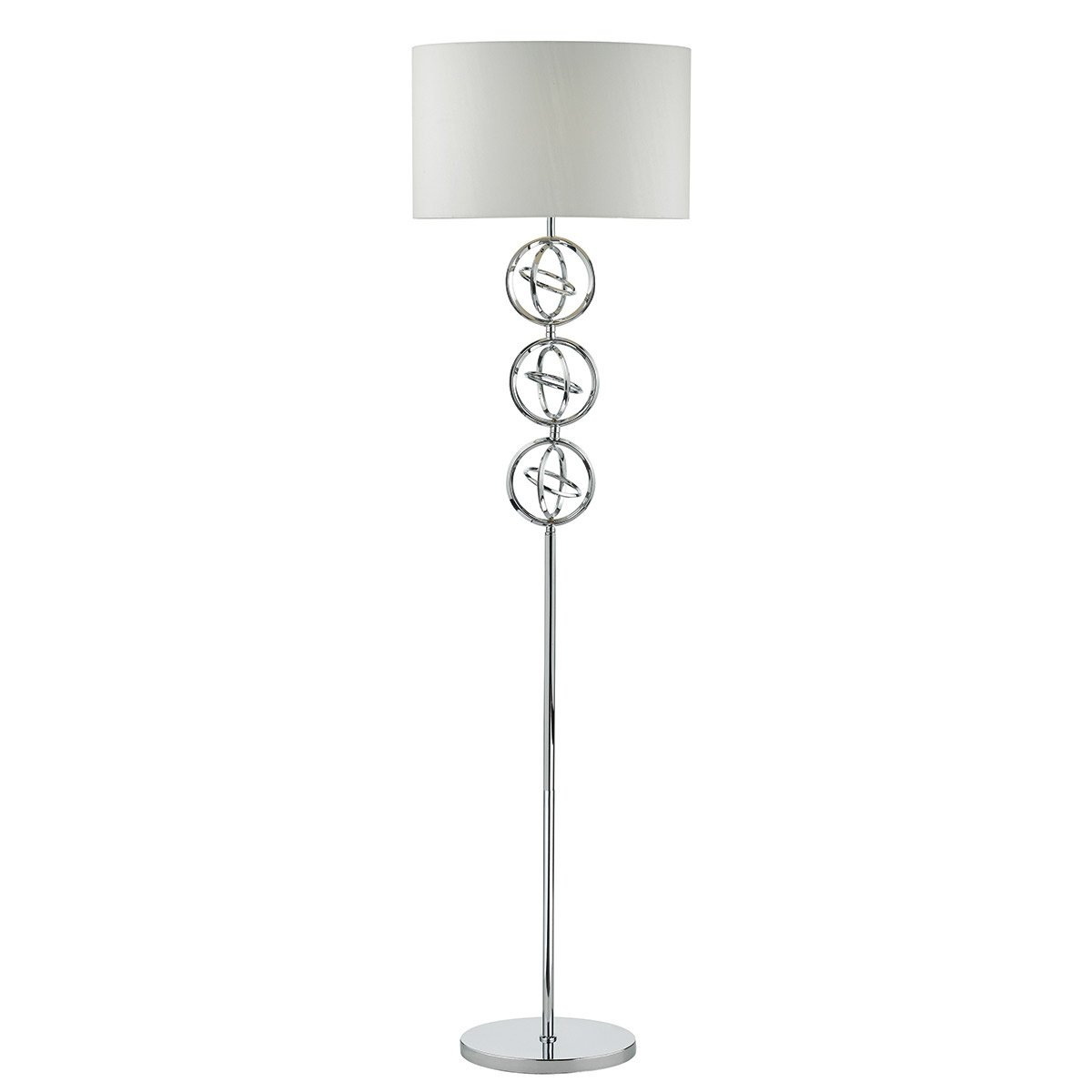 Picture of: Innsbruck Polished Chrome Floor Lamp Ivory Shade