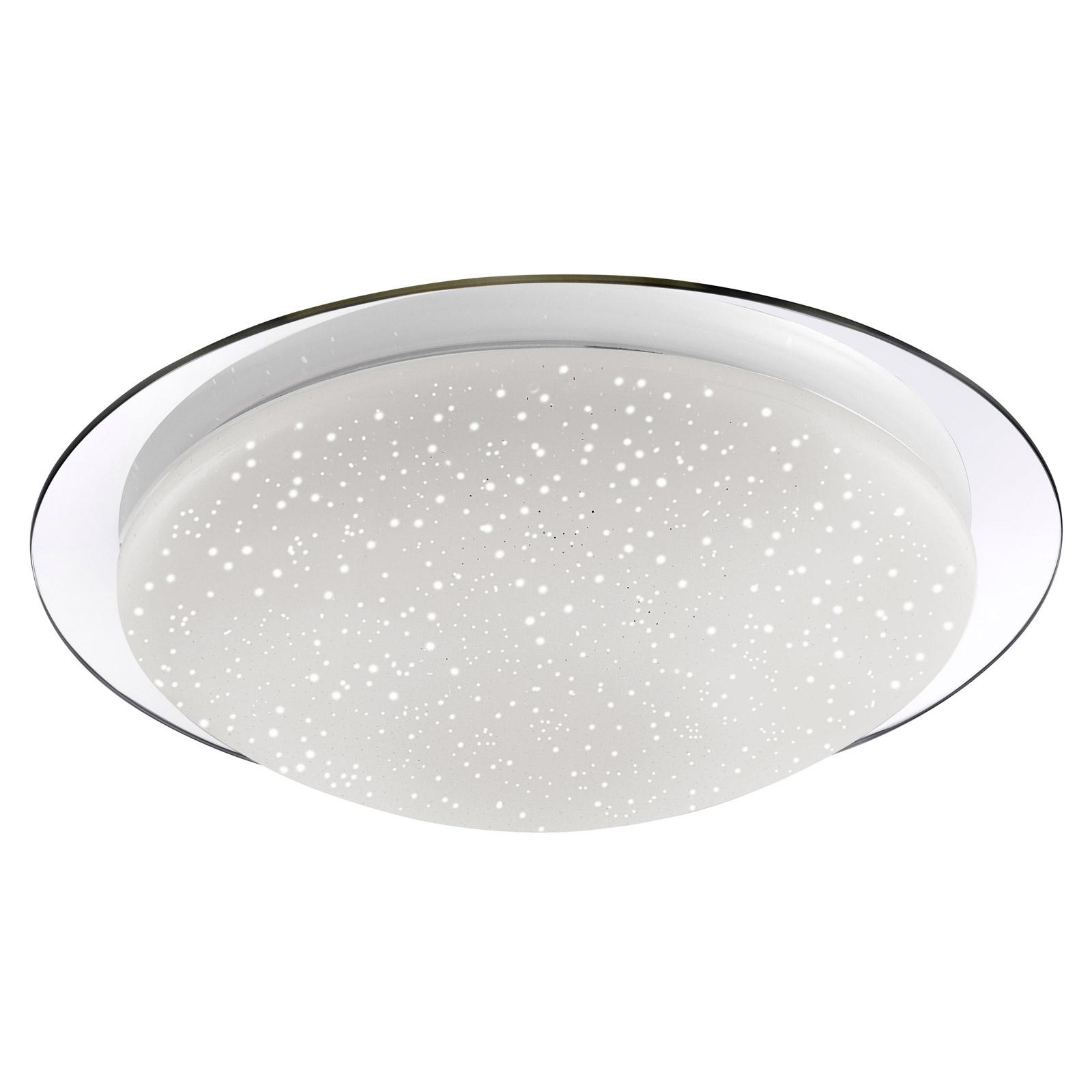 Skyler Chrome Flush Ceiling Light