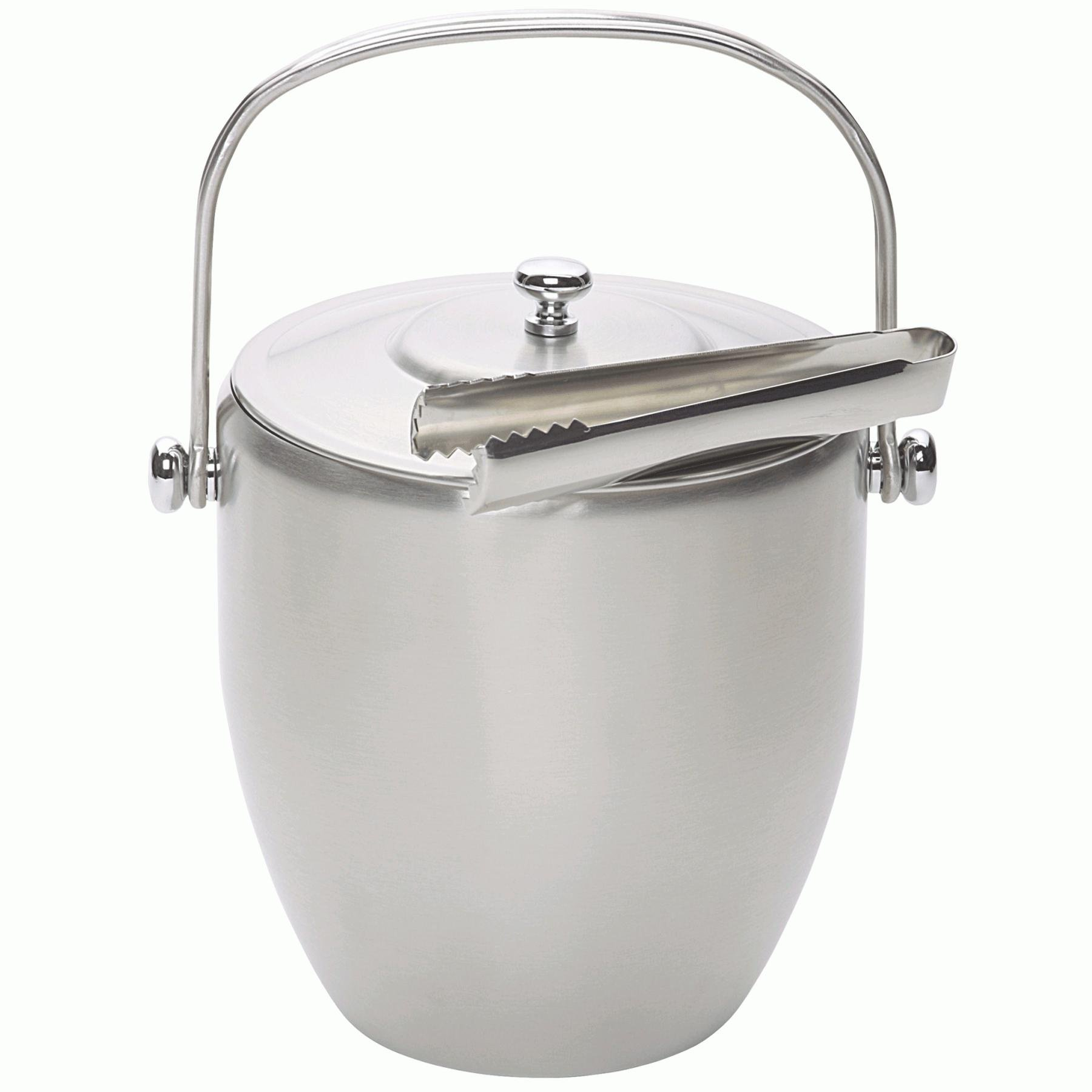 Stainless Steel Ice Bucket And Tongs