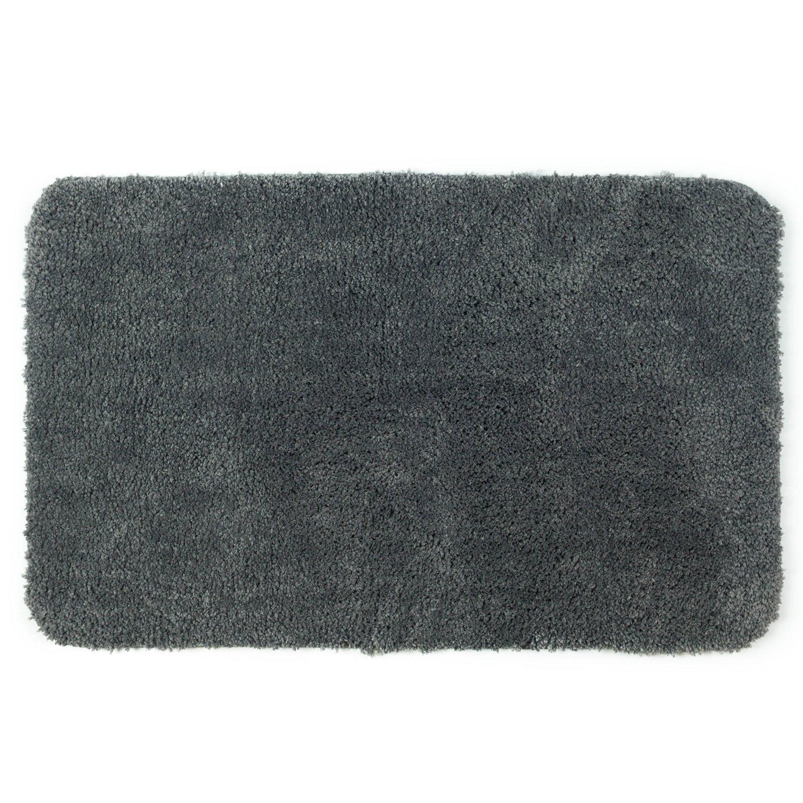Allure Microfibre Charcoal Grey Bath Mat
