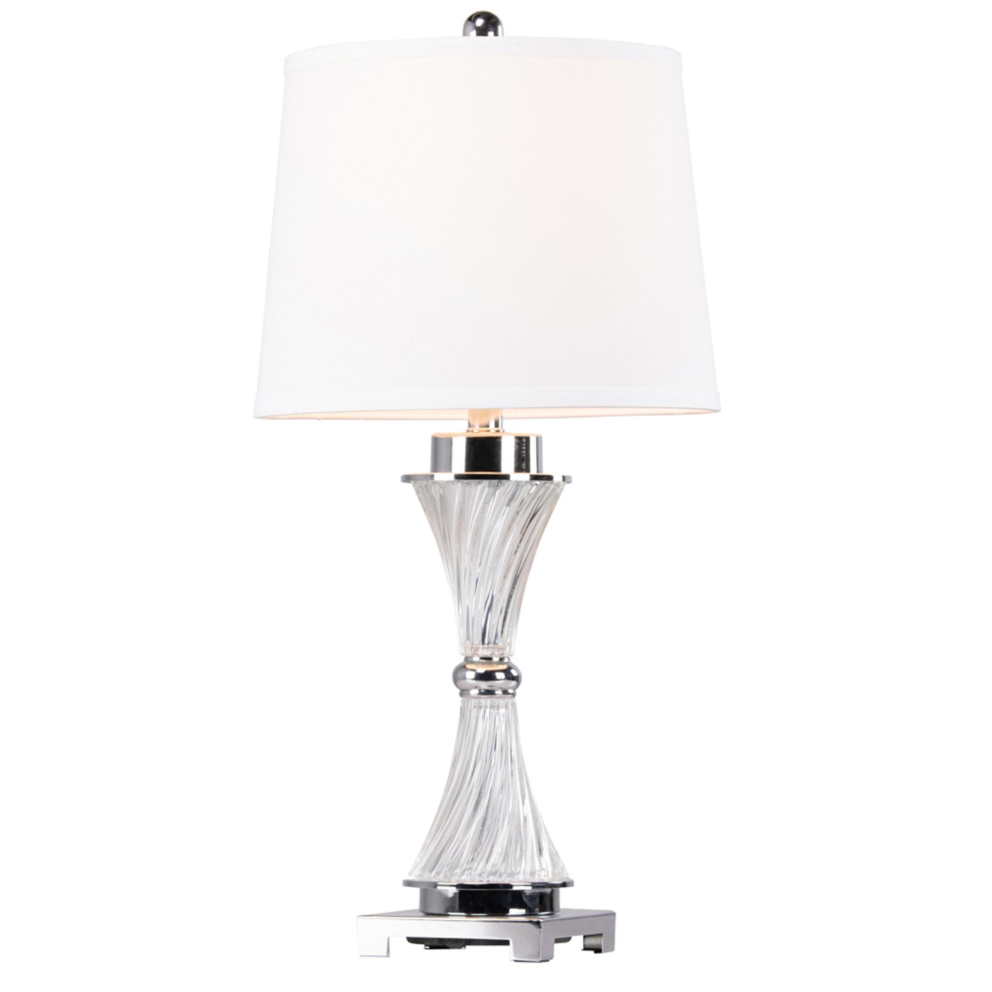Mara Chrome Glass Table Lamp