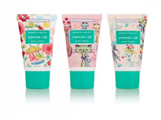 Vintage & Co Bonnet & Belles Hand Cream Trio