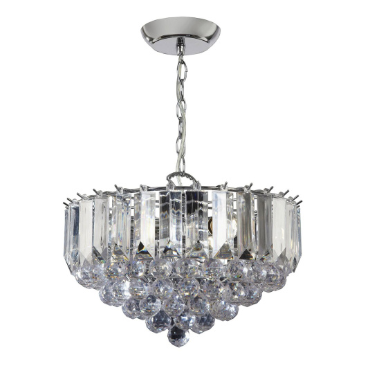 Fargo Chrome 3 Light Pendant Light