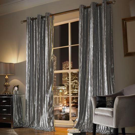 Kylie Minogue Iliana 66 x 90 Silver Curtains