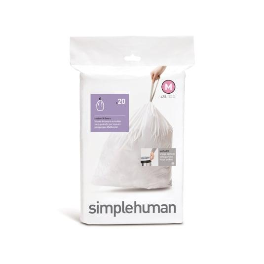 Simplehuman 45 Litre Sure Fit Bin Liners - Size M