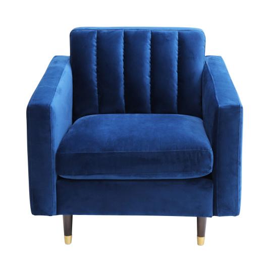 Diego Blue Velvet Armchair