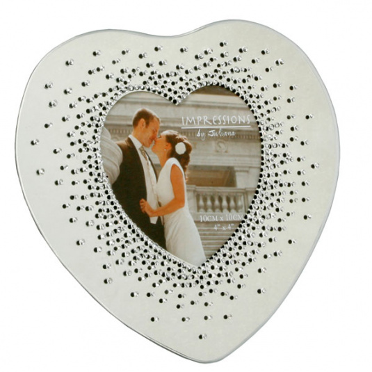 Starburst Heart Wedding Photo Frame