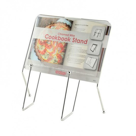 Chrome Effect Wire Cook Book Holder