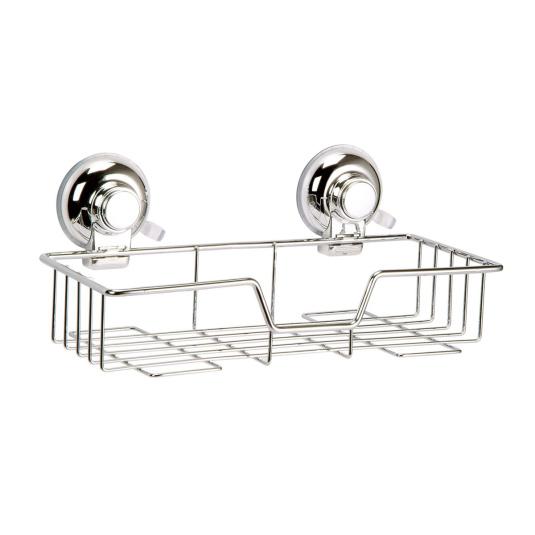 Showerdrape Vertex Collection Super Suction Rectangular Basket
