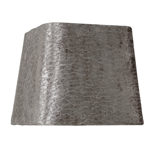 Dual Fitting 8 Inch Taupe Stone Velvet Square Lamp Shade