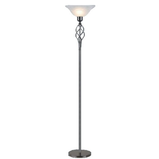 HU Home Barley Gun Metal Floor Lamp