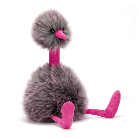 Grey Pompom Medium Emu Teddy