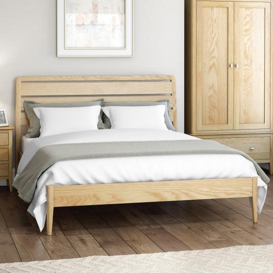 Wessex Light Oak Bed Frame Collection