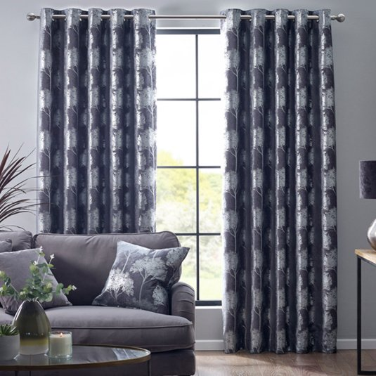 Belfield Enchanted Forest Charcoal 66x90 Curtains