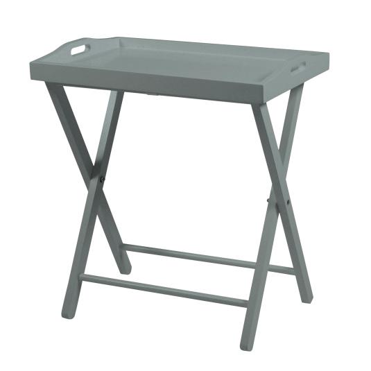 Finn Grey Wooden Folding Tray Table