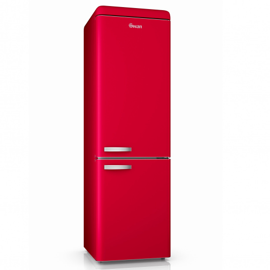 Swan Retro Red 70/30 Fridge Freezer