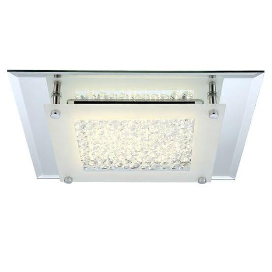 Liana Crystal Flush Ceiling Light