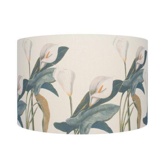 40cm Arum Lily Linen Drum Shade