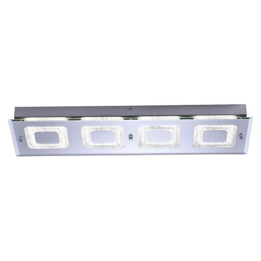 Lisa LED Four Rectangular Flush Ceiling Light