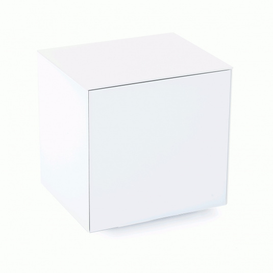 Invictus White High Gloss Lamp Table - Self Build