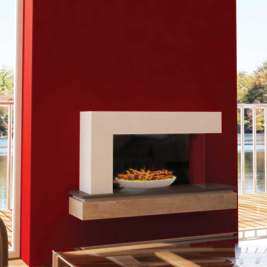 Evonic Fires Qube Electric Fireplace Suite