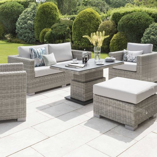 Norfolk Leisure Malibu Rattan 2 Seater Sofa Garden Set