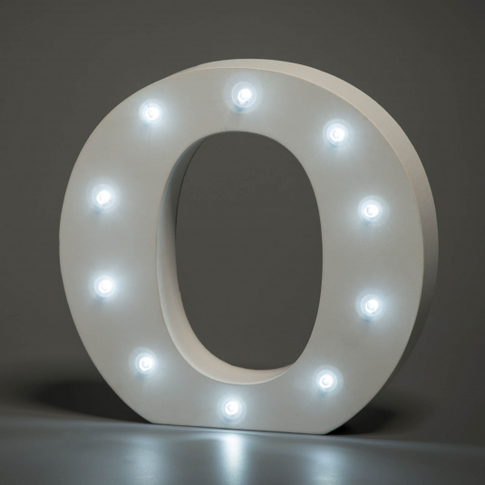 Light Up Letter - O