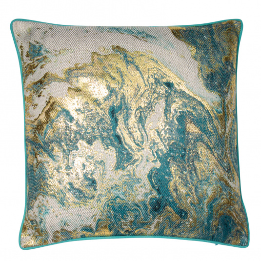 Malini Ocean Metallic Gold Cushion