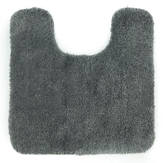 Allure Microfibre Charcoal Grey Pedestal Mat
