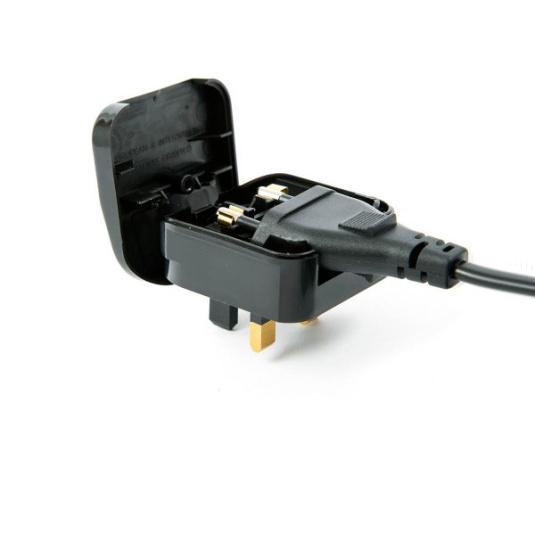 Euro Converter Plug in Black