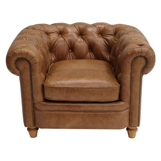Lawson Tan Leather Armchair