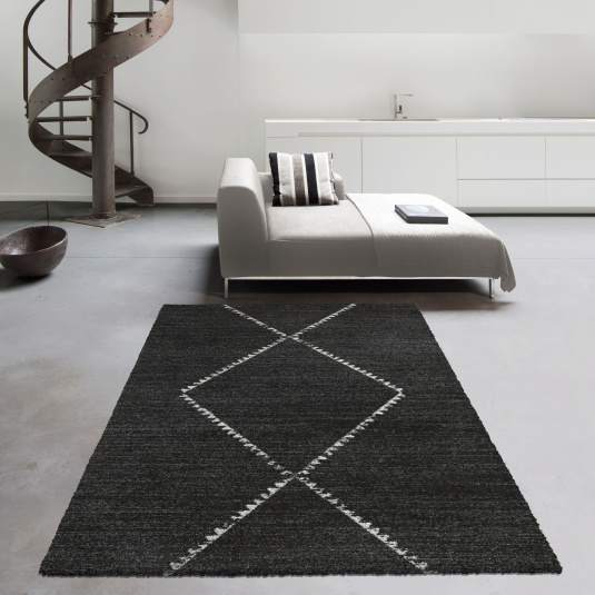 Mehari Charcoal Berber Rug Collection