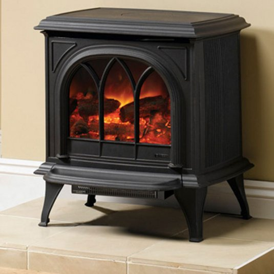 Gazco Huntingdon 30 Black Electric Stove