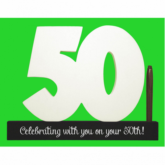 Signature 50 3D Number and Pen