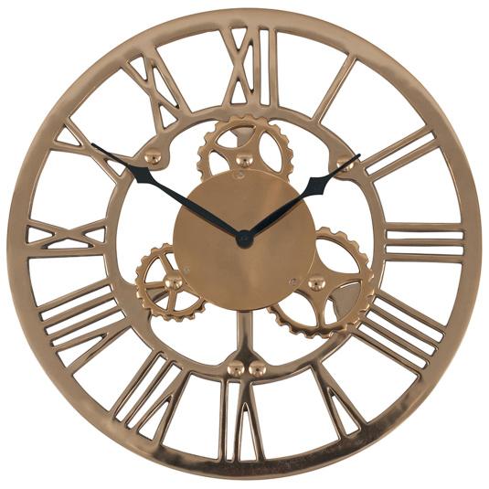 Antique Gold Cog Wall Clock