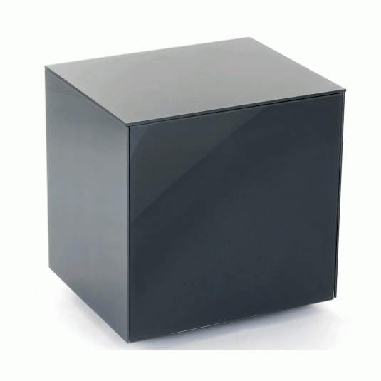 Invictus Grey High Gloss Lamp Table - Self Build