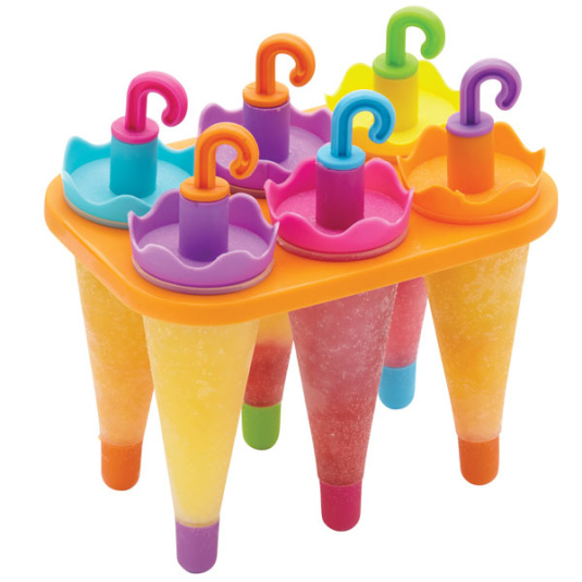 Set of 6 Umbrella Lolly Moulds