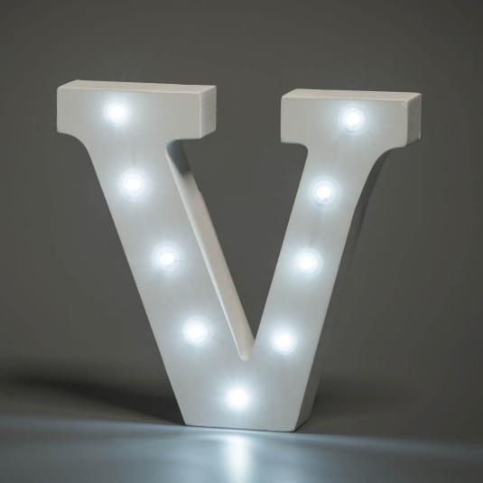 Light Up Letter - V