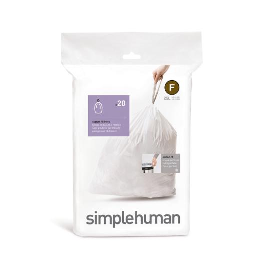 Simplehuman 25 Litre Sure Fit Bin Liners - Size F