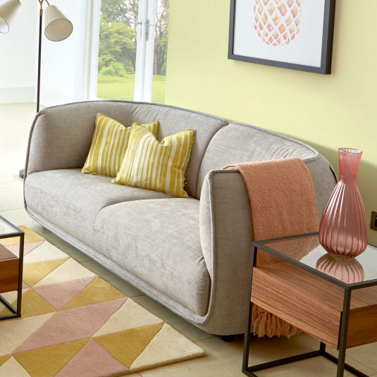 Cleo Grey Fabric 2 Seater Sofa