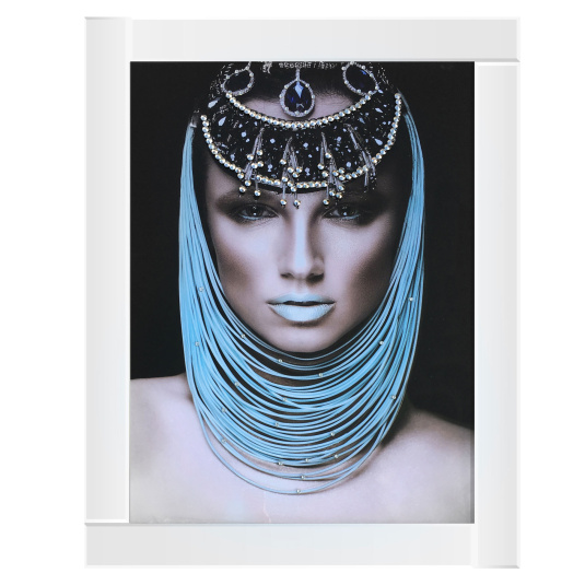 Egyptian Lady with Silver Frame